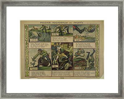 Russian Proverbs Personified Framed Print