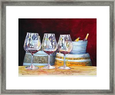 Russian River Wine Tasting Framed Print by Richelle Siska
