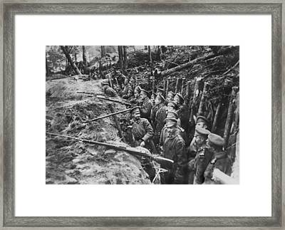 Russian Sharpshooters Framed Print by Underwood Archives