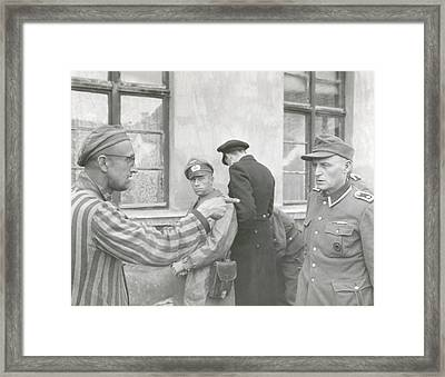 Russian Slave Laborer Points Out Nazi Framed Print