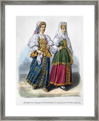 Russian Women Framed Print by Granger