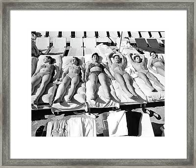Russia's Women's Olympic Gymnastics Team Framed Print