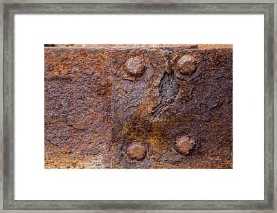 Rust 1 Framed Print by Fran Riley