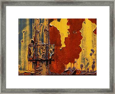 Rust Abstract Framed Print by Jack Zulli