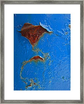 Rust Abstract Framed Print by Mary Bedy