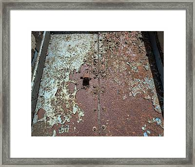 Rust And Corrosion Framed Print