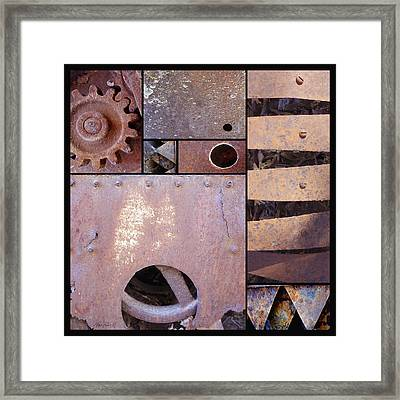 Rust And Metal Abstract  Framed Print by Ann Powell