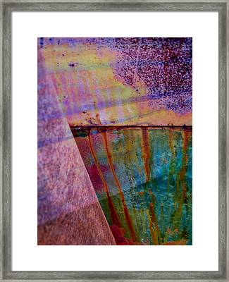 Rust And Paint Framed Print by Shirley Sirois
