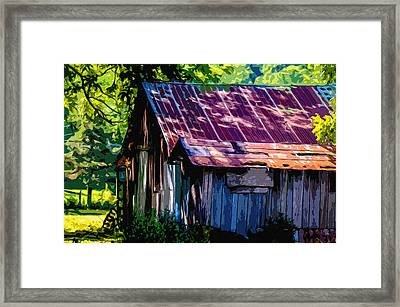 Rust And Rays Framed Print