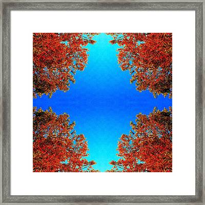 Framed Print featuring the photograph Rust And Sky 1 - Abstract Art Photo by Marianne Dow