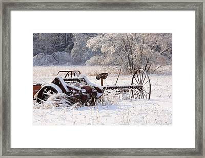 Rust And Snow Framed Print
