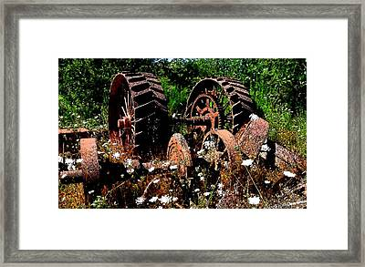 Rust And Wheels Framed Print