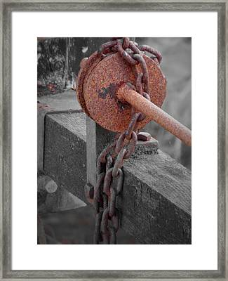 Rust And Wood Framed Print