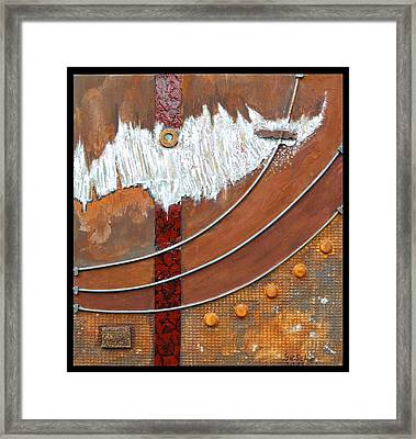 Rust Art 04 Framed Print by Gertrude Scheffler