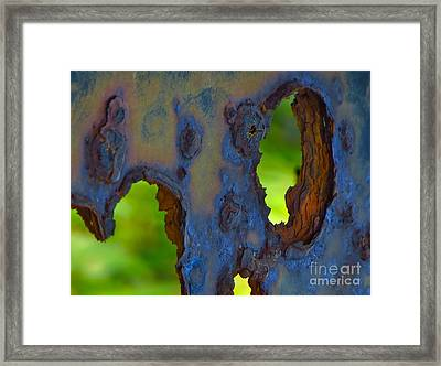 Rust In Peace Framed Print by Joy Hardee