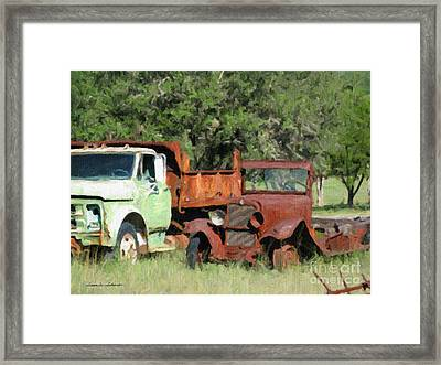 Rust In Peace No. 1 Framed Print