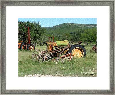 Rust In Peace No. 4 Framed Print