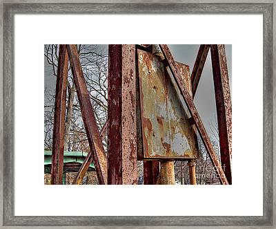 Rust Framed Print by MJ Olsen