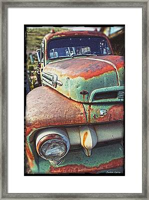 Rust Or Bust Framed Print by Justin  Curry