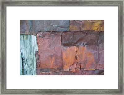 Rust Squared Framed Print