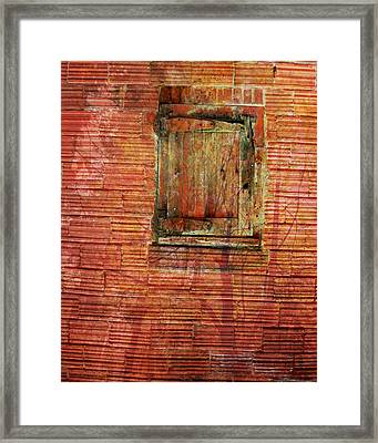 Rust Wall Framed Print by Lyn  Perry