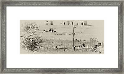 Rust Wind And Time Are Not Kind Framed Print by Wilma  Birdwell