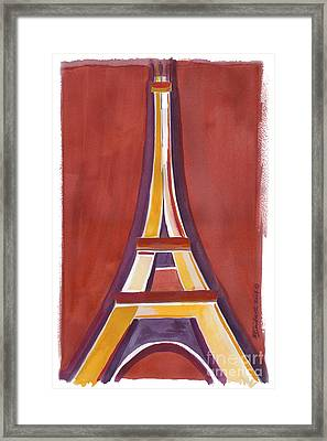 Rust Yellow Eiffel Tower Framed Print