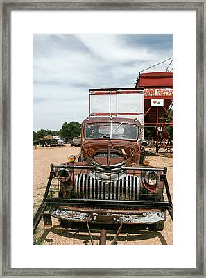 Rusted Abandoned Antique Truck Framed Print