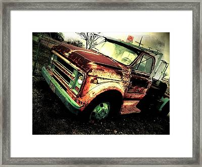 Rusted And Busted Framed Print by Denisse Del Mar Guevara
