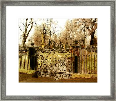 Rusted Cemetery Gate Framed Print