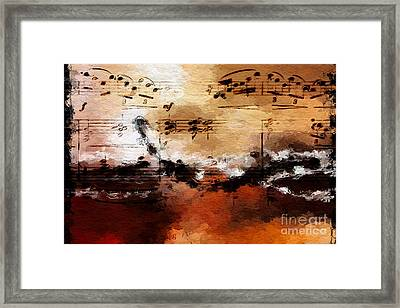 Framed Print featuring the digital art Rusted Desert Harmony by Lon Chaffin