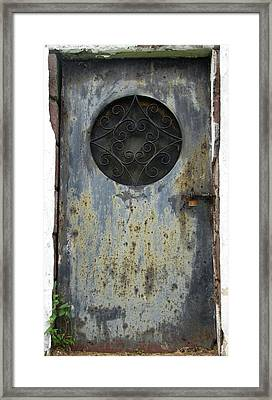 Framed Print featuring the photograph Rusted Door by Melissa Stoudt