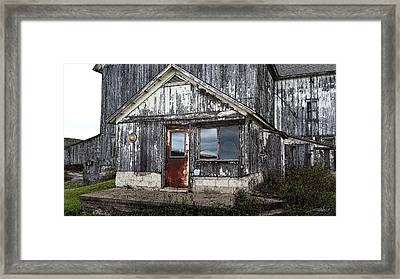 Rusted Farmhouse Door Framed Print
