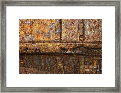 Rusted Fishing Boat Framed Print by John Greim