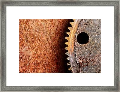 Rusted Gear Framed Print by Jim Hughes