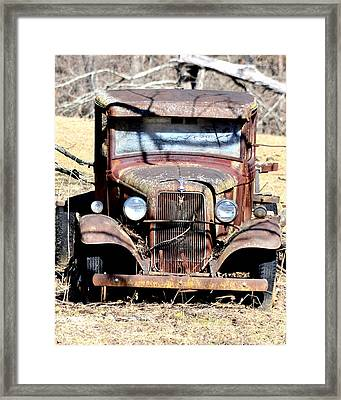Framed Print featuring the photograph Rusted Love by Cathy Shiflett