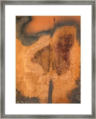 Rusted Metal Abstract Framed Print by Ben Kotyuk