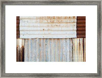 Rusted Metal Background Framed Print by Tim Hester