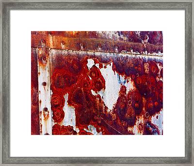 Rusted Metal Framed Print by Craig Brown