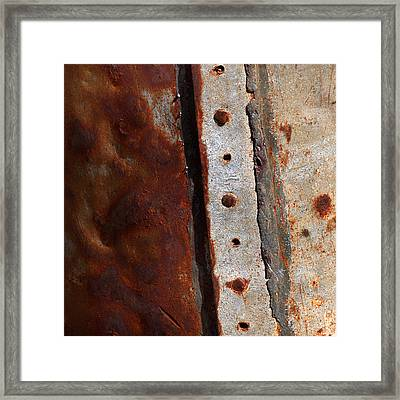 Rusted Metal Tank Framed Print by Art Block Collections