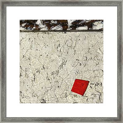 Rusted Nails     Red Dot Framed Print