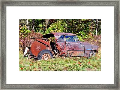 Rusted Old Car Framed Print