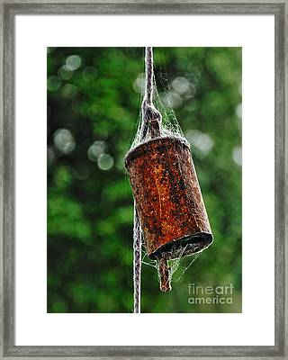 Rusted Old Cowbell Framed Print