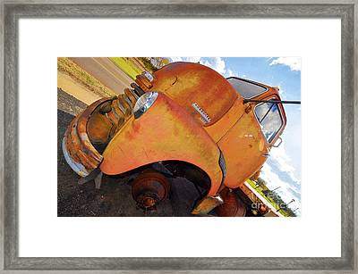 Rusted Out Chevrolet 5700 Framed Print by Liane Wright