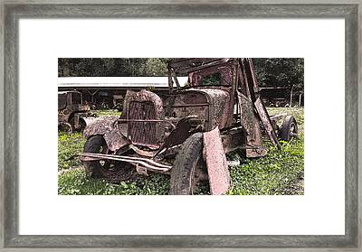 Rusted Pickup In Pieces Framed Print