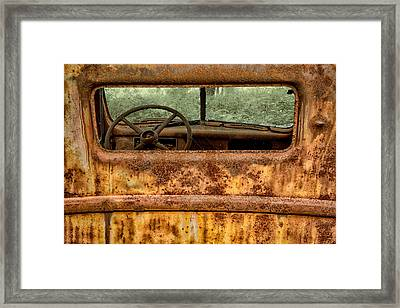 Rusted  Framed Print by Sara Hudock