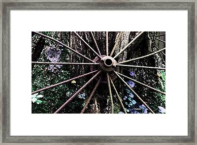 Rusted Spokes Framed Print