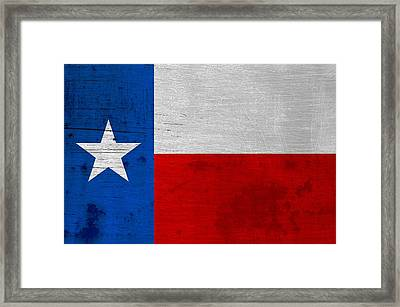 Rusted Texas State Flag Framed Print