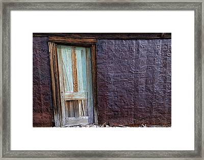 Rusted Tin Exterior In Bodie Framed Print