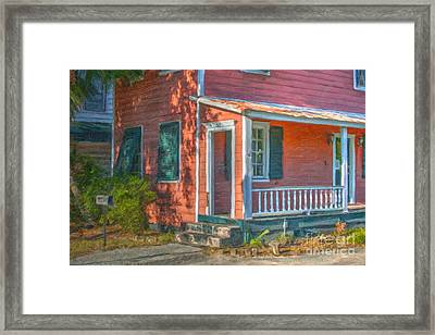 Rusted Tin Roof Framed Print by Dale Powell